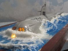 USNRS Seaview Moebius 1-350 Diorama TV version. (facebook.image) 7.17 #30A