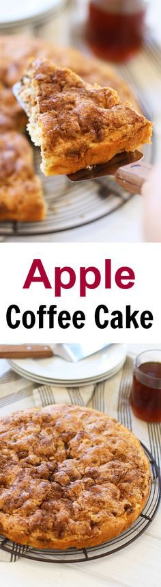 Apple Coffee Cake – sweet and decadent coffee cake loaded with apple, this cake is super easy to bake and perfect with tea or coffee | rasamalaysia.com #kitchenaidcontest