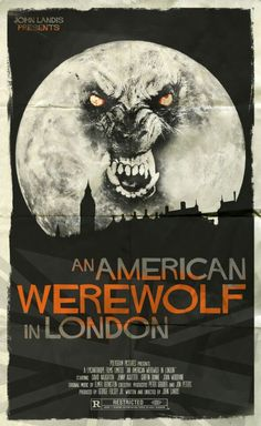 American Werewolf In London. Horror Icons, Horror Movie Posters, Movie Poster Art, Horror Art, Cult Movies, Scary Movies, American Werewolf In London, Famous Monsters, Classic Horror Movies