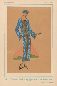 whisters: 1923 Fashion Design from Paul Poiret. From Tres...