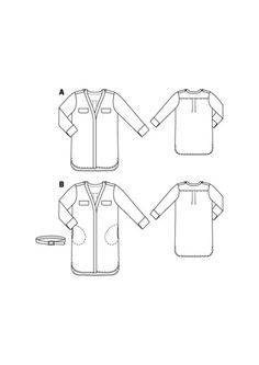 V-Neck Shirt Dress 12/2015 #121B Part of Holiday Dress Bundle