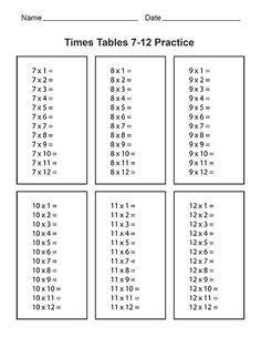 Free Printable Multiplication and Division Worksheets - A ...