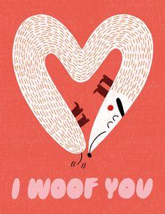 Illustration Courses, Dog Illustration, Illustrations, Magazine Illustration, My Funny Valentine, Kids Valentines, Dachshund, Valentines Illustration, Alphabet