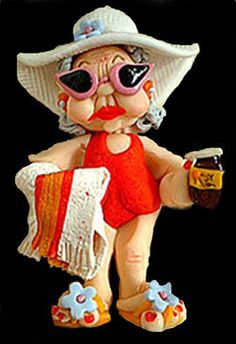 'Just call me Pammy' Polymer Clay by Trisha Martin Dyi Crafts, Clay Crafts, Clay People, Personalized Gifts, Handmade Gifts, Clay Dolls, Cold Porcelain, Clay Ideas, Fairies