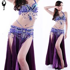clothes spanish on sale at reasonable prices, buy 2018 Belly Dance Costume Set Bra&Belt&Skirt Bellydance Costume 8 Colors Belly Dancer Costume Professional Indian Clothes India from mobile site on Aliexpress Now! Sexy Outfits, Dance Outfits, Dance Dresses, Belly Dancer Costumes, Belly Dancers, Dance Costumes, Belly Dance Outfit, Fancy Dress Accessories, Feminine Style