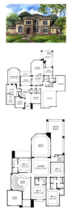 Tuscan House Plan 61749 | Total Living Area: 4486 Sq. Ft., 5