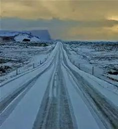 North Dakota winter road