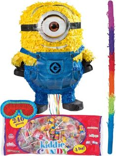 Despicable Me 2 Pull String Minion Pinata Kit 4pc - Party City