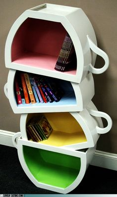 Cup Bookshelf - Love Unique Functional Works of Art :-)