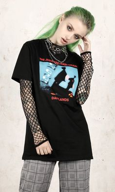 The Jesus And Mary Chain - Darklands T-Shirt - Disturbia Clothing Gothic Outfits, Edgy Outfits, Cute Outfits, Fashion Outfits, Rock Style, My Style, Fashion Photo, Rock Fashion, Retro Fashion