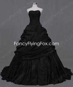 fancyflyingfox.com Offers High Quality Sweetheart Taffeta Black Wedding Dress Vintage,Priced At Only US$216.00 (Free Shipping)