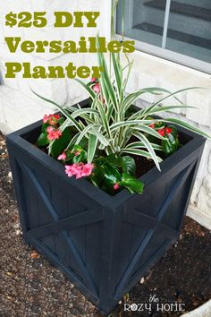 $25 DIY Versailles Planter with instructions and diagrams ~ save hundreds on every one you make.