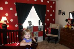 Big Girl Minnie Mouse Room... color themed as opposed to cheesy pink Minnie heads all over the place.