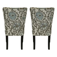 Julia Suzani 'Vine Village' Blue Dining Chairs (Set of 2) - Overstock™ Shopping - Great Deals on Sole Designs Dining Chairs