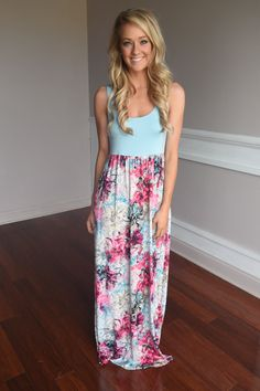 Splash into Summer Maxi Dress~ Blue – The Pulse Boutique