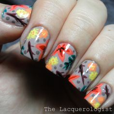 The Lacquerologist: Fall Florals with OPI Brazil Shades!