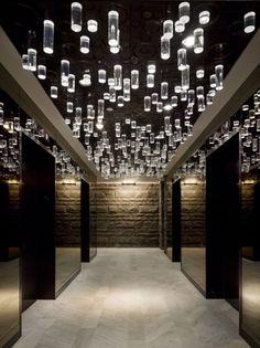 iluminação do teto da sala.