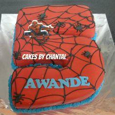 NO 5 SPIDERMAN CAKE