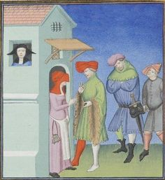 Publius Terencius Afer, Comoediae [comédies de Térence] ca. 1411;  Bibliothèque de l'Arsenal, Ms-664 réserve, 31v