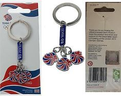 #Official london 2012 #olympic #games team gb 3 charms keyring chain memorabilia,  View more on the LINK: http://www.zeppy.io/product/gb/2/131919096032/