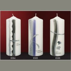 Trauerkerzen - Design- und Kirchenkerzen seit 1792 Pillar Candles, Design, Handmade Candles, Paraffin Wax, Wax, Manualidades, Decorating Candles, Candle Art, Design Comics