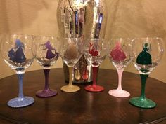 These glittery wineglasses: | 29 Things To Help You Embrace Your Inner Disney Princess
