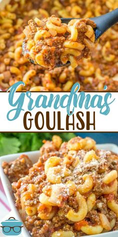 Ground Beef Recipes 89676 This recipe for Grandma's Goulash is an old family recipe that is totally American and is super easy to make. Ground beef, pasta and sauce! It's sometimes called: American Chop Suey, Johnny Marzetti or Slumgullion. Beef Dishes, Pasta Dishes, Food Dishes, Food Food, Main Dishes, Ground Beef Pasta, Ground Venison, Easy Ground Beef Meals, Ground Chuck Recipes Dinners
