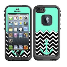 Skins Kit for Lifeproof iPhone 5 Case (skins/decals only) - Tiffany Blue Nautcial Anchor and Chevron Pattern, http://www.amazon.com/dp/B00F12NOYG/ref=cm_sw_r_pi_awdm_-4HZsb09NRH72
