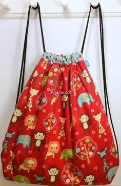Ref. ML28- Davant de motxilla, de tela - Delante de mochila, de tela - Drawstring backpack, front, of fabric... aprox. 36 x 36cm VENUDA-VENDIDA-SOLD OUT