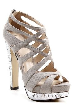 Gray Strappy Sandals