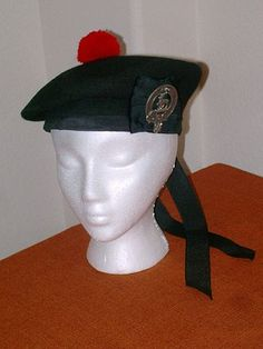 Balmoral bonnet - Traditional Scottish bonnet or cap worn with Scottish Highland dress.
