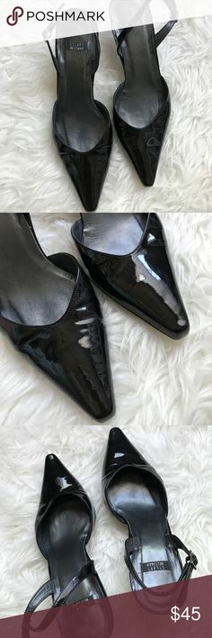 Stuart Weitzman black slingback heels size 7.5 Stuart Weitzman heels. Pointed patent black toe. Slingbacks. Sis 7.5. Some wear to the soles as shown in pictures. Very little creasing. They are in great condition! Stuart Weitzman Shoes Heels
