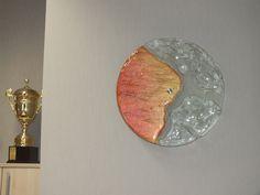 Wystrój wnętrz- element dekoracyjny z fusingu