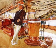 John Singer Sargent - Captain Herbert M. Sears on deck of the Schooner Yacht Constellation