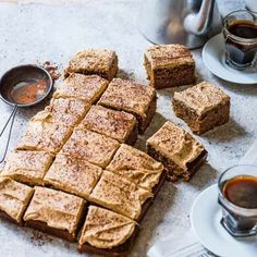 Try our coffee cake recipe with cappuccino buttercream. This coffee cake recipe is an easy chocolate cappuccino cake. Make our cappuccino coffee cake recipe Tray Bake Recipes, Sheet Cake Recipes, Baking Recipes, Dessert Recipes, Sheet Cakes, Slab Cake, Cake Tray, Food Cakes, Cupcake Cakes