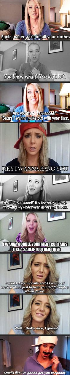 Jenna Marbles pick-up lines…oh how I love Jenna...