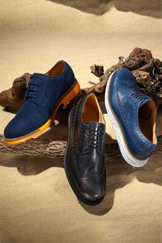 New and blue, Cole Haan's classic oxfords get a quirky update!