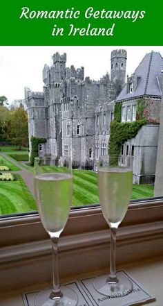 Ashford Castle is just one destination for a romantic vacation in Ireland. Ashford Castle Ireland, Castle Hotels In Ireland, Castles In Ireland, Galway Ireland, Cork Ireland, Romantic Vacations, Romantic Getaways, Romantic Travel, Dream Vacations