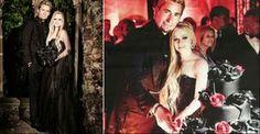 Avril Lavigne se casou usando um vestido de noiva preto. Saiba como aderir ao look - A cantora Avril Lavigne aderiu à tendência dos vestidos de noiva coloridos. A noiva que deseja fugir do convencional precisa escolher um modelo que respeite o seu estilo próprio e incluir ao visual elementos tradicionais. Confira!