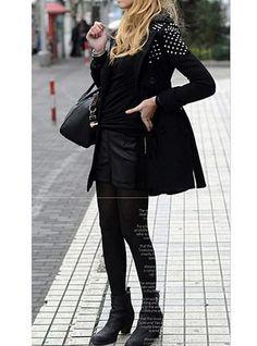 Womens Leather Shorts - Sleek Leather Paneled / Flat Front
