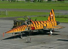 Military Jets, Military Aircraft, Fighter Aircraft, Fighter Jets, Luftwaffe, Swiss Air, Old Planes, Tiger Ii, Airplane Design