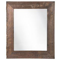 Rustic Wood Wall Mirror Distressed Reclaimed Driftwood Bedroom Bathroom Vanity #TheNeedfulThings #Rustic