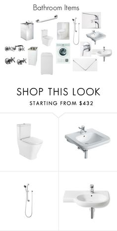 """Ambulant Home Bathroom Items"" by insideout1 on Polyvore featuring interior, interiors, interior design, home, home decor, interior decorating, WALL, Virtu and bathroom"