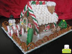 Marshmallow North Pole Cabin side