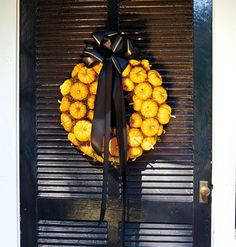 pumpkin wreath - Do you seal food wreaths with something?