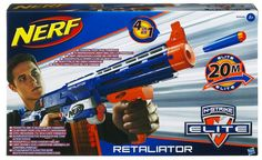"""Winter Olympics Party """"Event"""" - Biathalon Kids will """"skate"""" around the room on carpet skates then shoot suction darts at targets. Nerf N-Strike Elite Retaliator Blaster Freebies Uk, Nerf Darts, Uk Deals, Toys Uk, Toy Store, The World's Greatest, Challenges, Thing 1, Cards"""