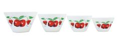 1940s apple and cherry nesting bowls. So cool for summer.
