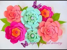 DIY Paper Flowers Wall Art | Room Decor | How To Make Paper Flower | Wall Hanging - Easy And Simple - YouTube