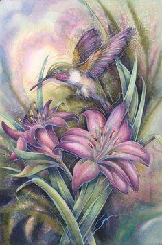 Petty Purple Hummingbird