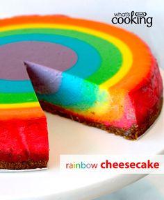 Rainbow Cheesecake #recipe
